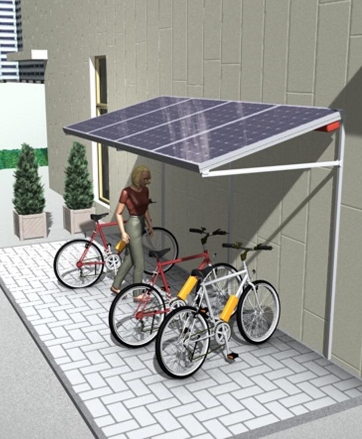 PV-Carport Komplettanlage mit E-Bike-Ladestation