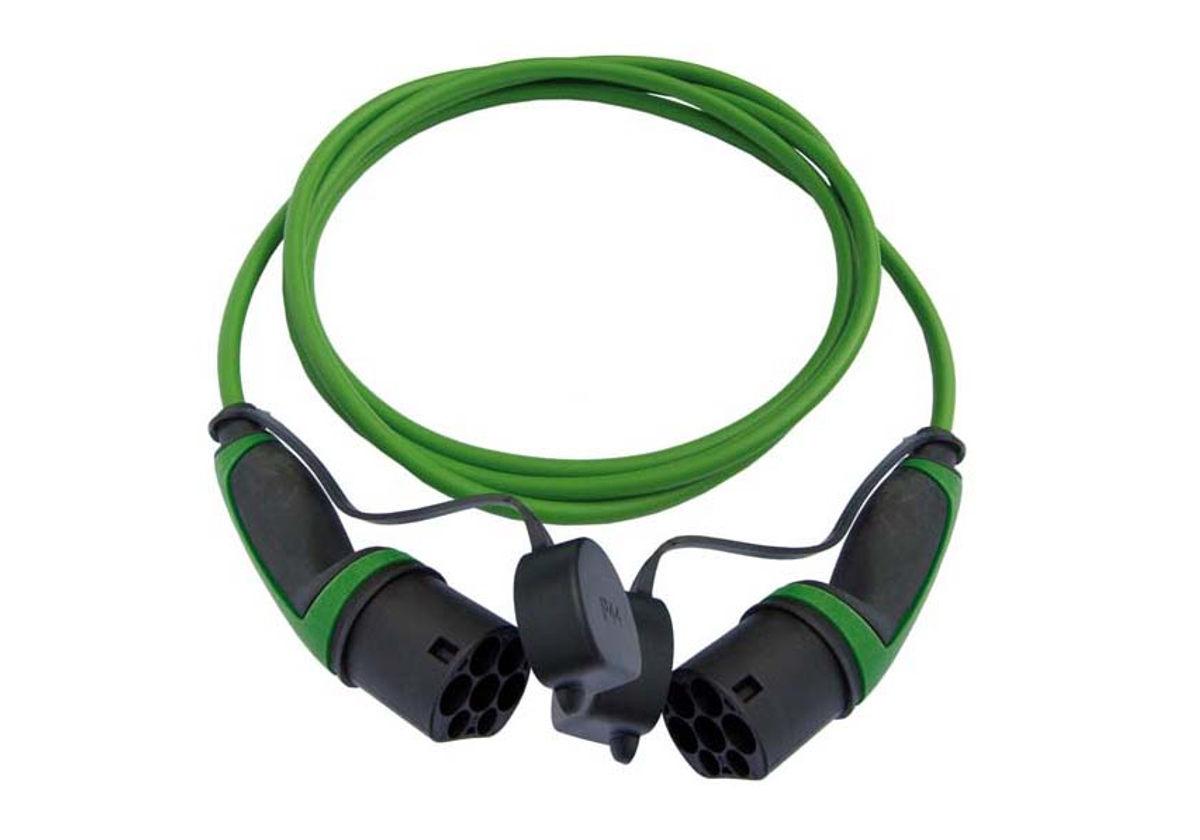 Ladekabel Typ 2 - Typ 2 (22 kW) - grün, glatt