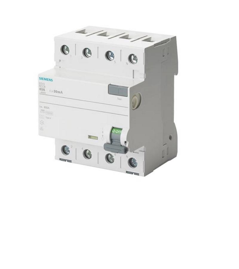 Siemens Fehlerstromschutzschalter Typ A (40 A, 4-polig)